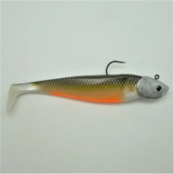 Shad GT 180 dos noir ventre orange en 75 gr