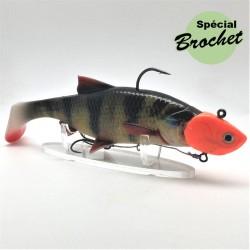 leurre souple 3D river roach coloris perche armé de 7 à 23 gr